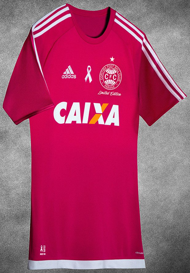 Adidas e Coritiba lançam camisa especial na cor rosa - Show de Camisas 95d238de46b