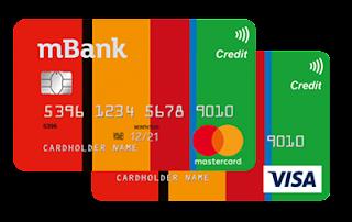 Karty kredytowe mBanku  MasterCard Standard i Visa Classic