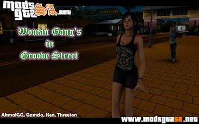 Mod Gangues de Mulheres na Groove Street