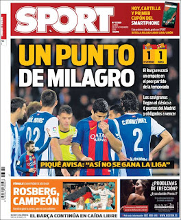 portada Sport empate Real Sociedad 28 11 2016