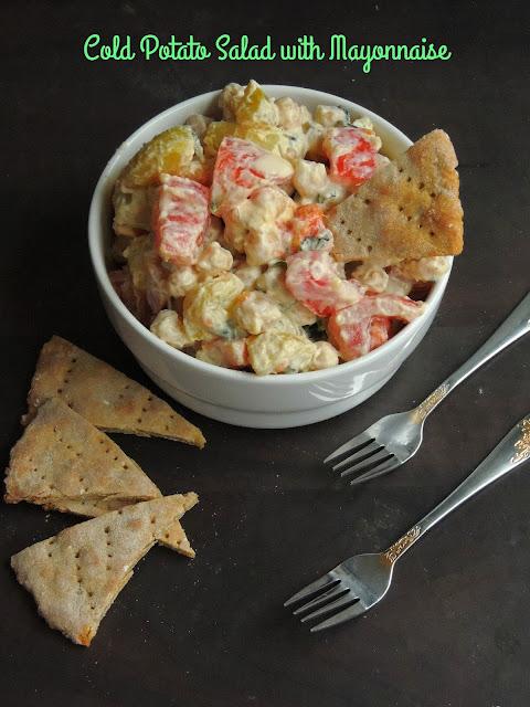 Cold Potato Salad, Chilled Potato & chickpeas salad