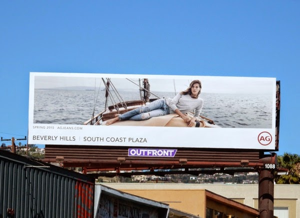 AG Jeans Spring 2015 yacht billboard