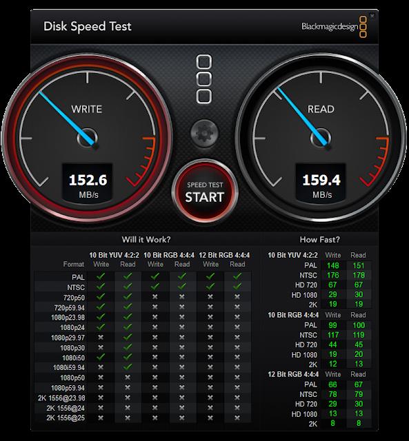 Blackmagic Disk Speed Test for Windows 1