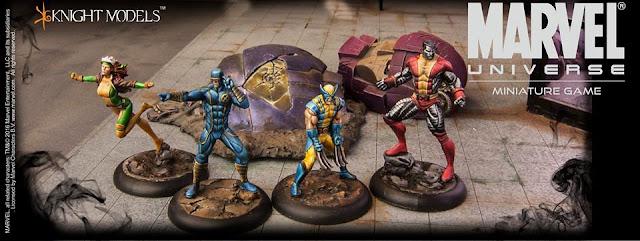 Knight Models - Marvel Miniature Superheroes - X-Men