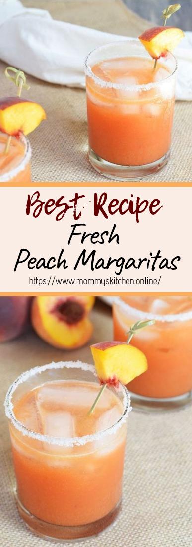 Fresh Peach Margaritas #healthydrink #easyrecipe