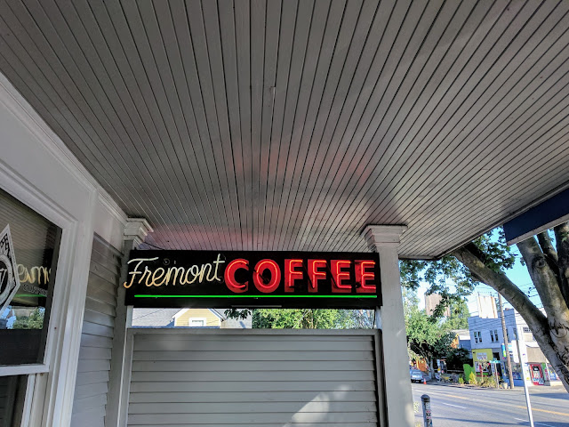 Fremont Coffee Company Sign in Seattle