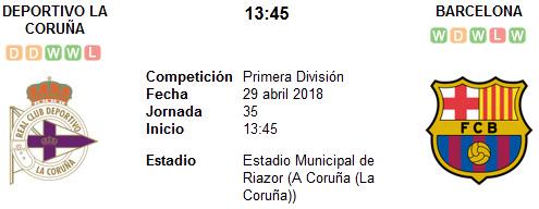 Deportivo La Coruña vs Barcelona en VIVO