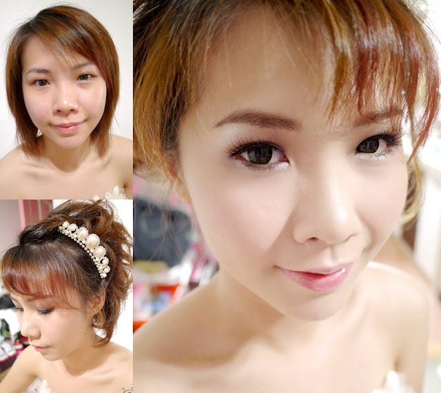 short bridal hair pearl accessories