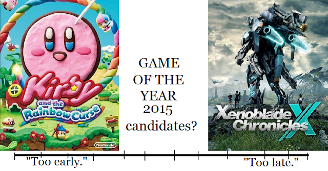 Game of the Year 2015 Kirby and the Rainbow Curse Xenoblade Chronicles X timeline