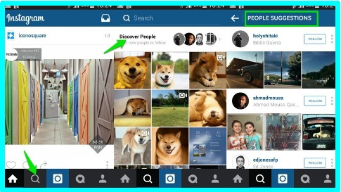 how to find friends on instagram iphone