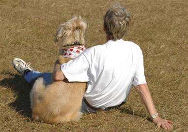 uno e cane che vivono insieme