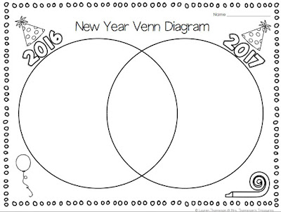 Classroom Freebies: Free New Year Reflection/Goals Venn
