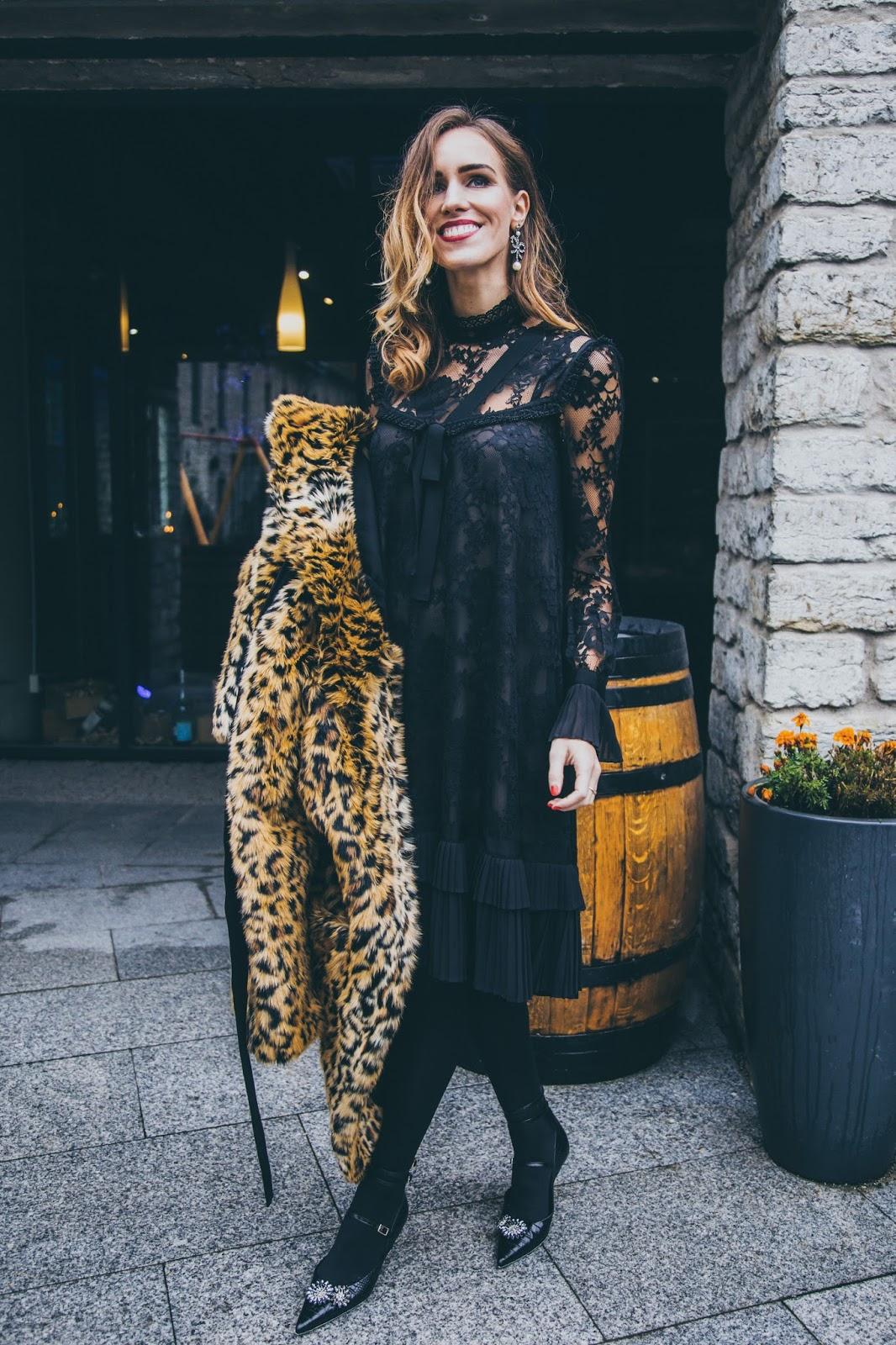 erdem x hm collaboration collection outfit black lace dress