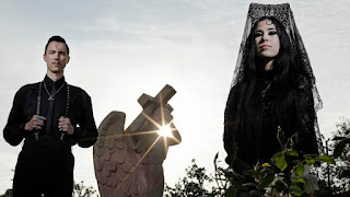 "Zachary and Alexandra James of Twin Temple, are a self-described ""Satanic Doo-Wop"" group and active Satanists. (Myung J. Chun / Los Angeles Times)"