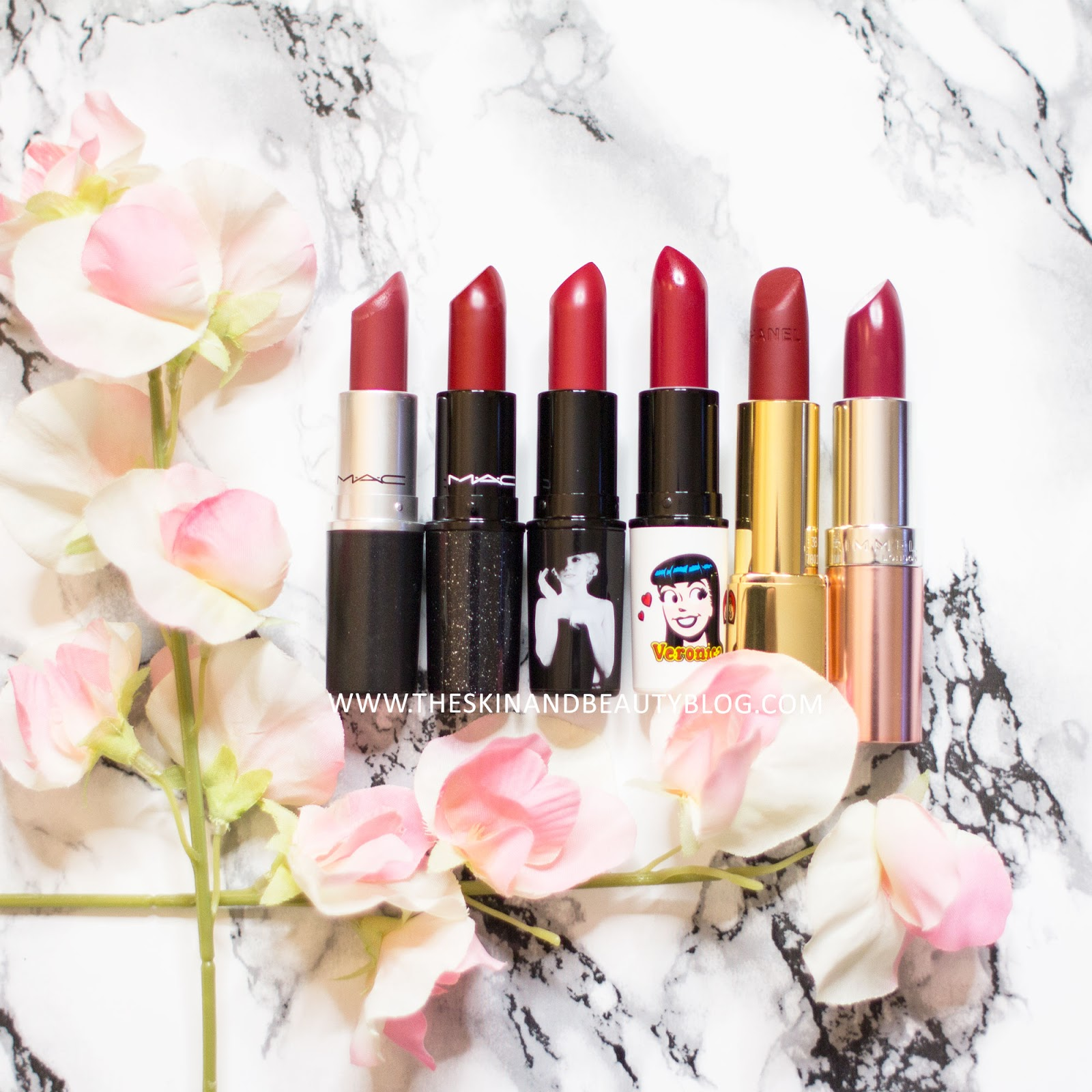 MAC, Chanel, Rimmel Red Lipstick Swatches Review