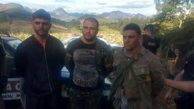 Presos três integrantes de quadrilha que levou terror e a morte do cabo Marcos Marques em Minas Gerias