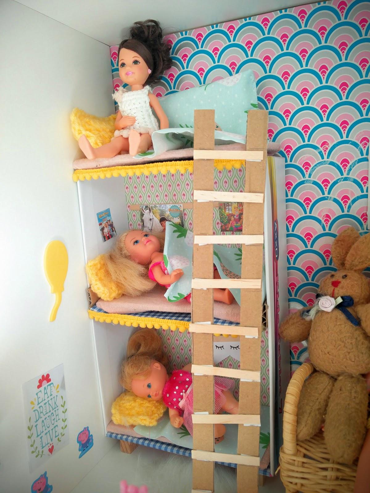 der bastelblog stockbett f r die barbie kinder. Black Bedroom Furniture Sets. Home Design Ideas