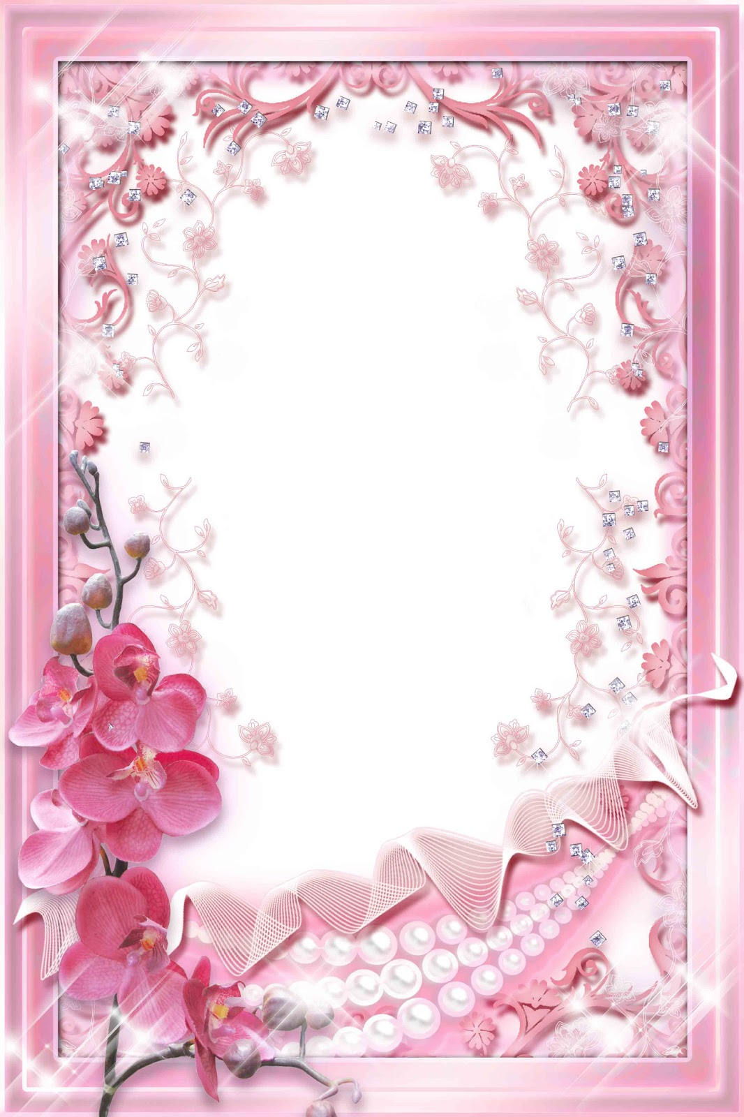 Baby Girl Wallpaper Borders Pink And Purple Pink Frame Psd Psd Frame