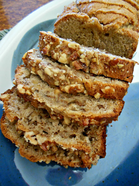 Cream Cheese Banana Bread, equally delicious with or without nuts.