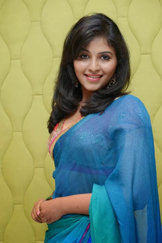 Anjali Latest Hot Photos in Saree At Masala Audio Launch ...
