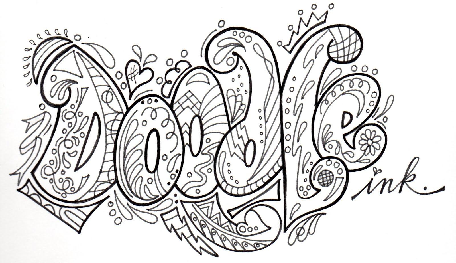 Pamela Jane's Studio: doodling class in april