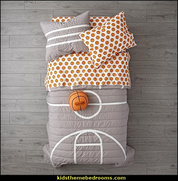 Nod Basketball Bedding  basketball bedroom ideas - Basketball Decor - basketball wall murals - basketball bedding - basketball wall decal stickers - basketball themed bedrooms - basketball bedroom furniture - basketball wall decorations - Basketball wall art - Basketball themed rooms - basketball bedroom furniture - NBA bedding - Boys basketball theme