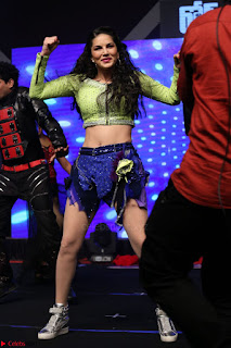 Sunny Leone Dancing on stage At Rogue Movie Audio Music Launch ~  273.JPG