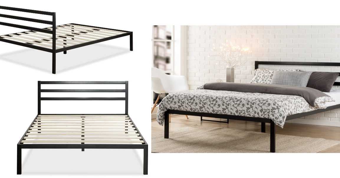 Ideal Coupons And Freebies Zinus Modern Studio Metal Platform Bed with Headboard Size Queen Reg Free Shipping