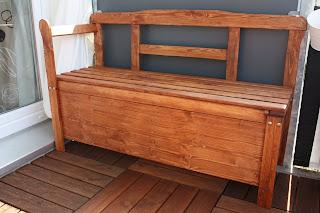 t rtier balkon stauraum bank. Black Bedroom Furniture Sets. Home Design Ideas
