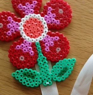 Hama bead hairclip holder