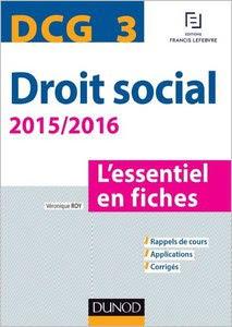 Télécharger Livre Gratuit DCG 3 - Droit social - L'essentiel en fiches pdf