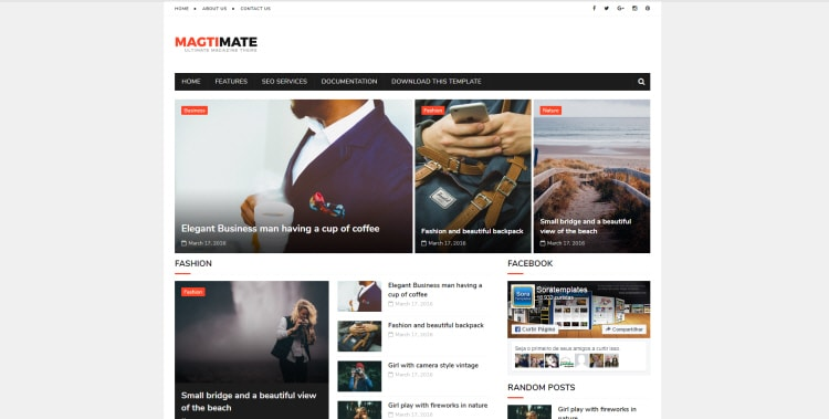 MagtiMate blogger template