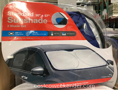 Keep your car cool and protect its interior with the Auto Sunshade Car Interior Protection Kit