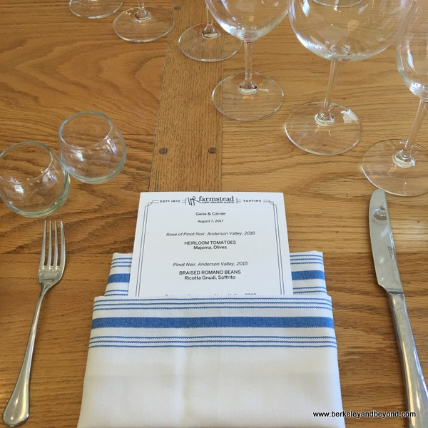 Chef's Table experience at Long Meadow Ranch in St. Helena, California