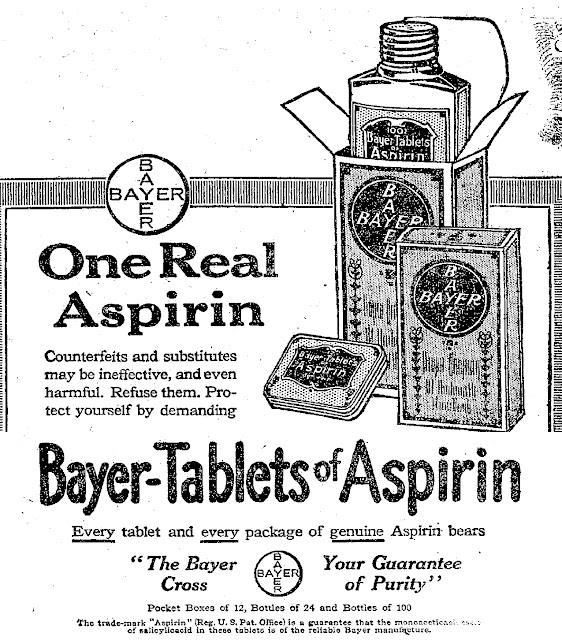 Old Ads Are Funny: 1917 ad: Bayer Aspirin