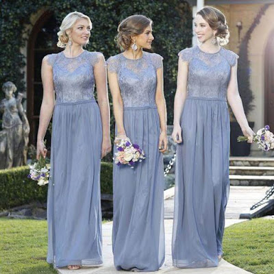 """I always believe in the fact that """"less is more"""". I'm sure that you too would agree with me. Hence, while choosing fall-inspired bridesmaid dresses for your squad, please make sure that the neckline is as simple as possible."""