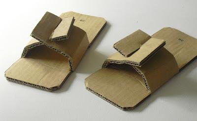 como hacer chanclas de cartón