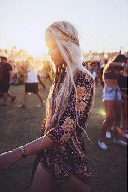 Floral Print Romper + Fringe Bag - Coachella Style Festival Fashion