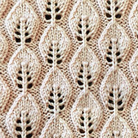 Embossed Leaf stitch, a very nice and useful stitch pattern for you to learn.