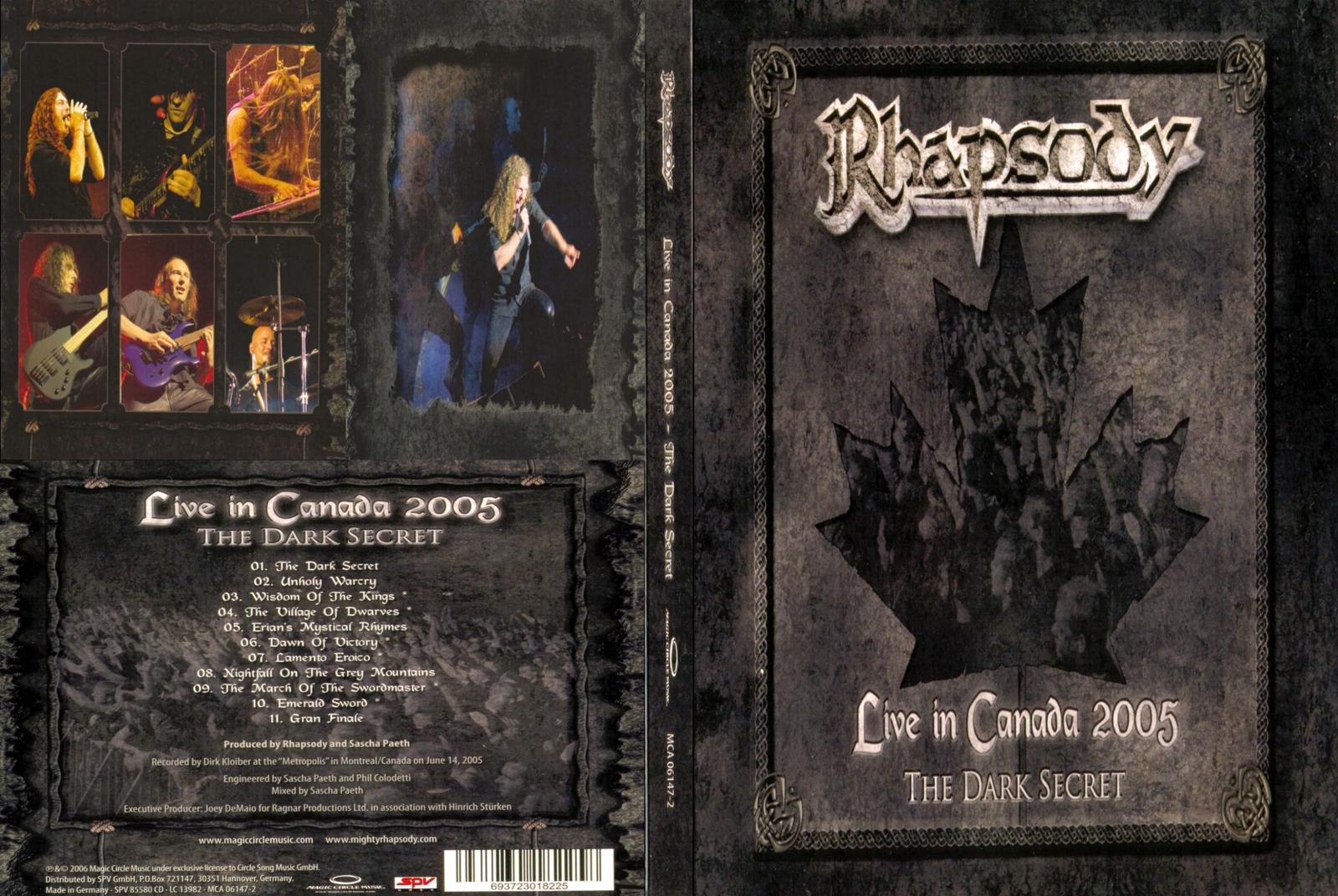 Rhapsody of fire live in canada download