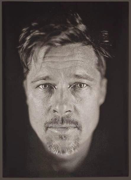 Pintura hiperrealista de Brad Pitt