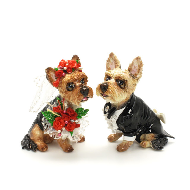 Yorkshire Terrier Gifts: Yorkie Lover Wedding Cake Topper