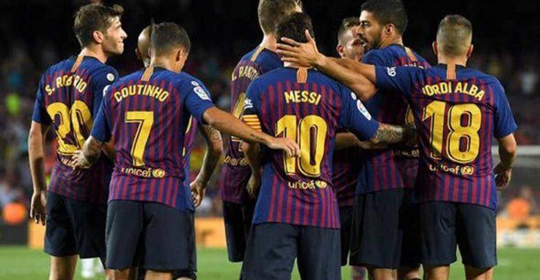 مقابلة فريق برشلونة امام هويسكا اليوم ضمن الدوري الاسباني