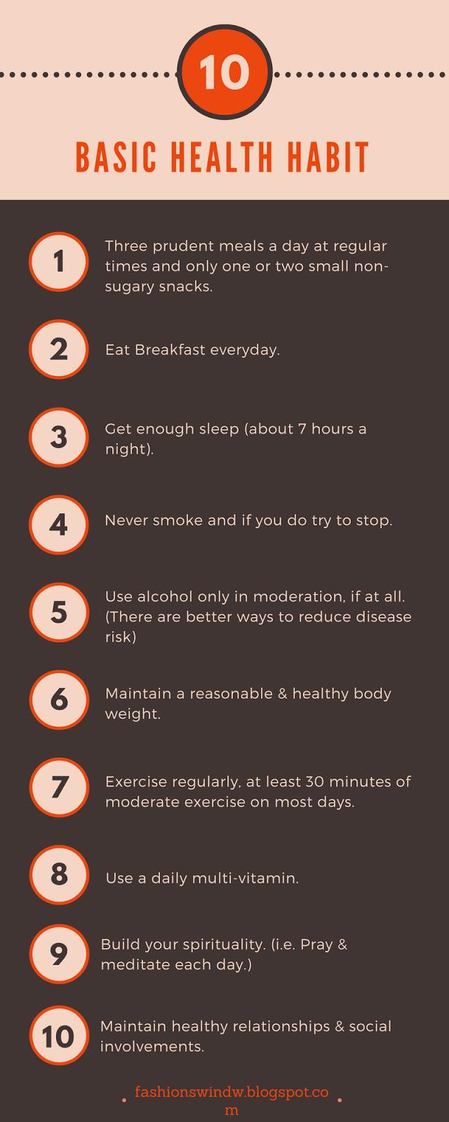 10 Basic Health Habits