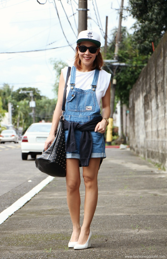 d8af0ee709a7 denim jumper overalls shorts street style fashion outfit