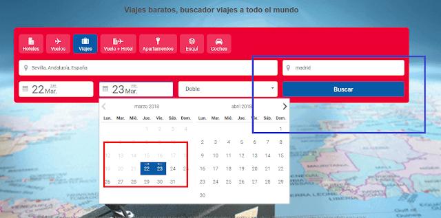 Buscar viajes baratos a Sevilla en buviba