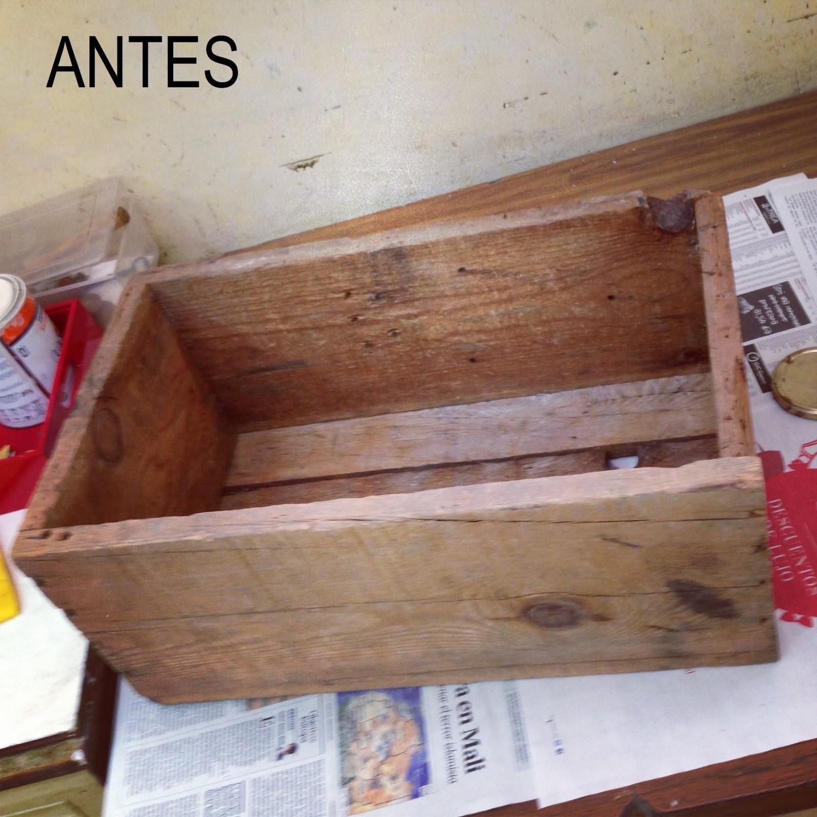 Restaurar cajas de madera 02 mesitas de noche rojosill n - Mesitas de noche en madera ...