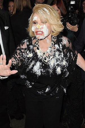 Joan Rivers threw the cake in the face