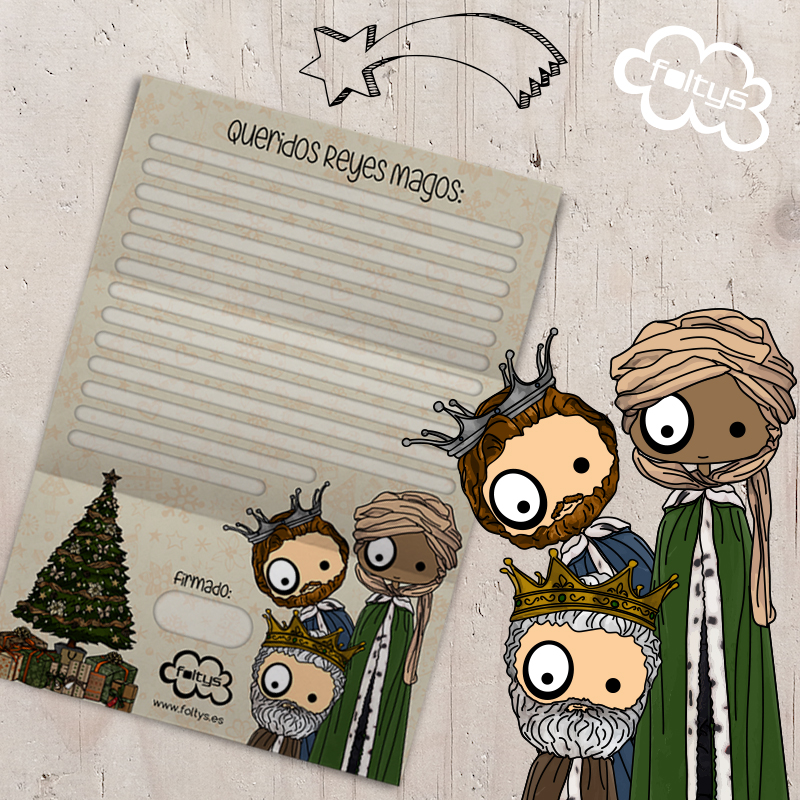 Carta a los Reyes Magos   Letter to the Wisdom Kings by foltys (Gratis-Freebie)