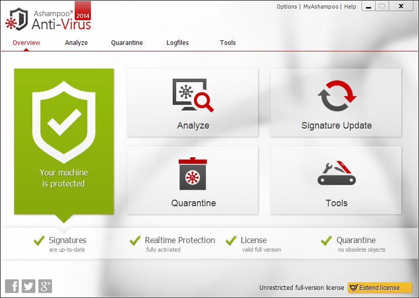 برنامج Ashampoo Anti Virus للحماية من الفيروسات لأجهزة الكمبيوتر